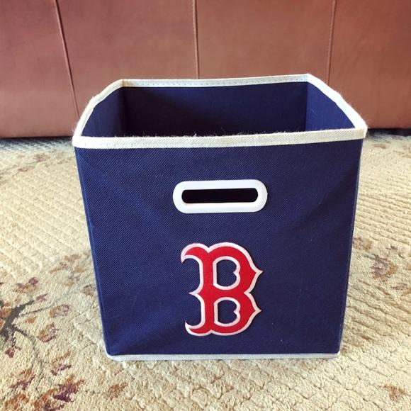 Navy Blue Boston Red Sox Fabric Storage Bin